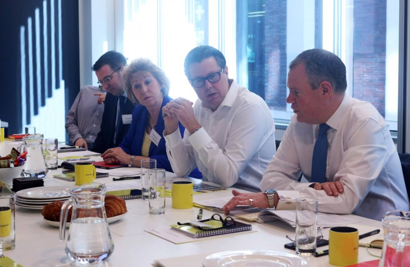 Conor chairing a roundtable with LendInvest, on Government support for small and medium sized housebuilders.