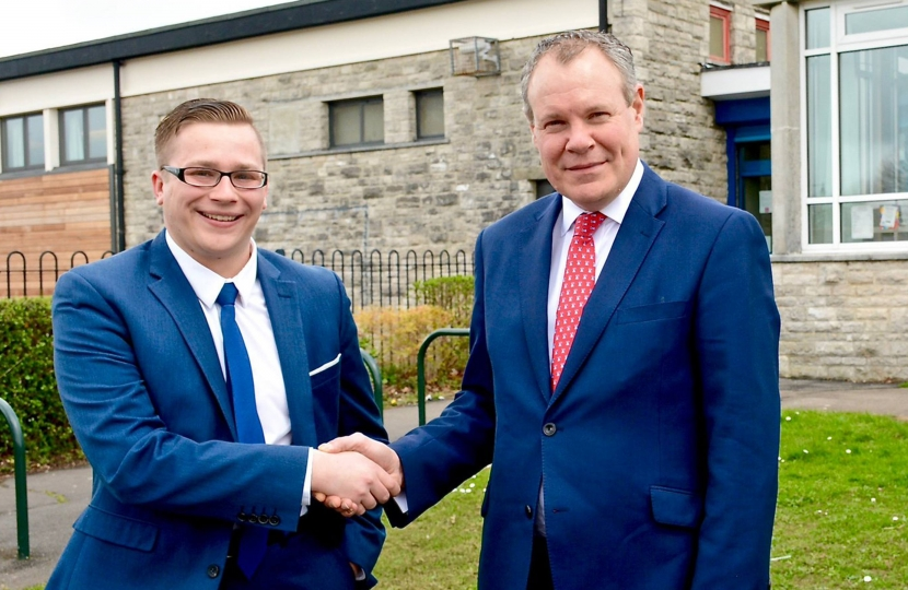 Conor with Councillor Laurence Fear following him joining the Conservatives.