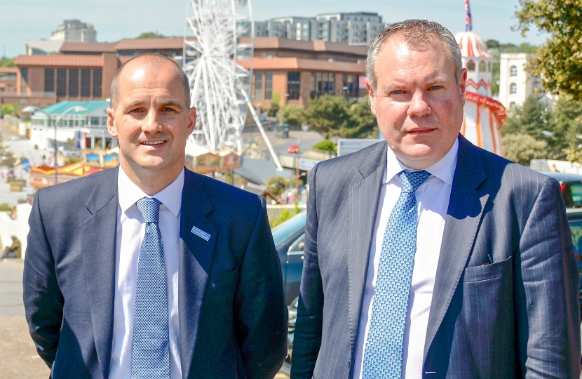 Conor pictured with Minister for the Northern Powerhouse & Local Growth, Jake Berry MP.