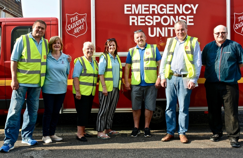 Conor pictured with the Winton Salvation Army team after helping to prepare and serve those most vulnerable Bournemouth residents.