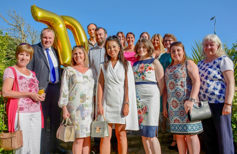 Conor with the Gales solicitor team celebrating their 70th anniversary.