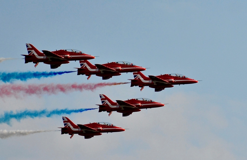 The Red Arrows still the hot favourites at the Bournemouth Air Festival.