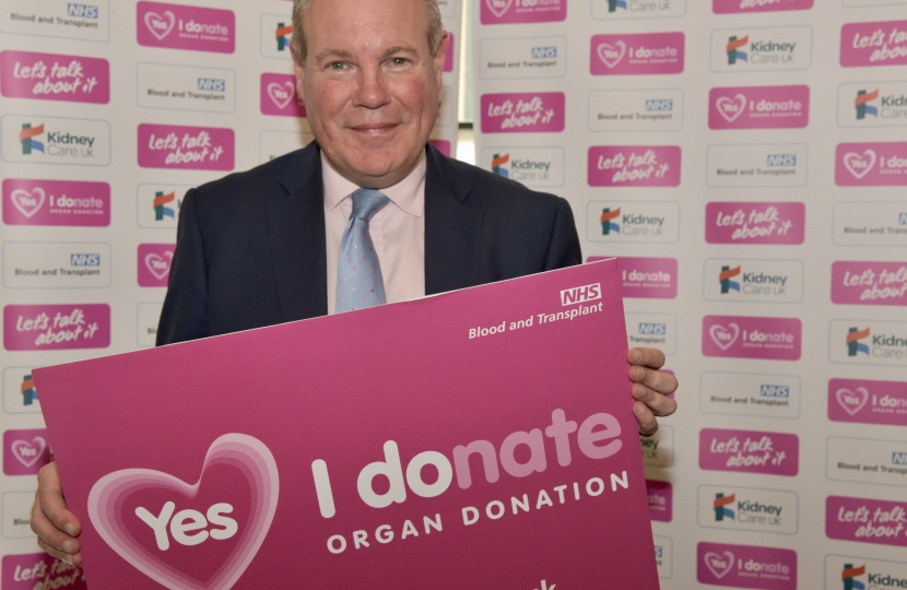 Conor backing Organ Donation Week.