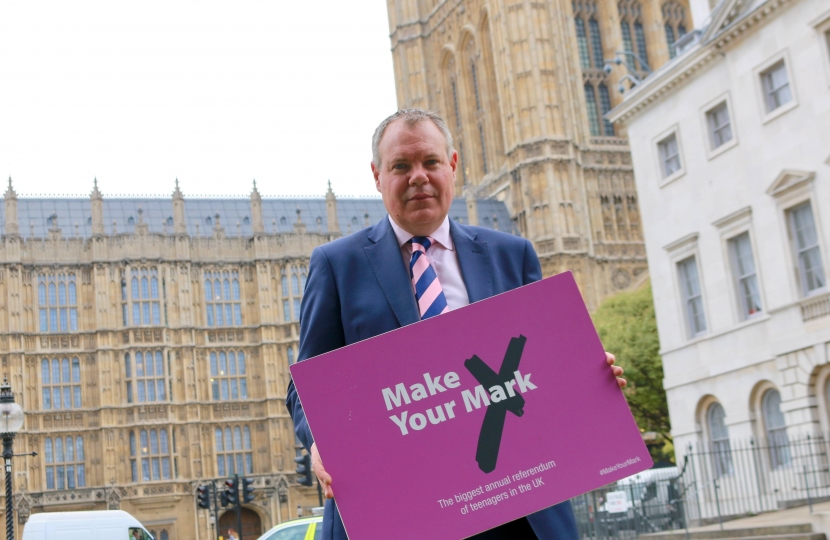 Conor supporting the Make Your Mark campaign.