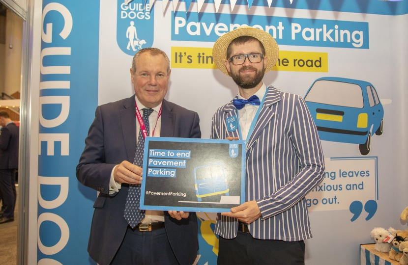 Conor pledging to tackle pavement parking.