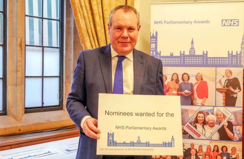 Conor at the NHS Parliamentary Awards Reception.
