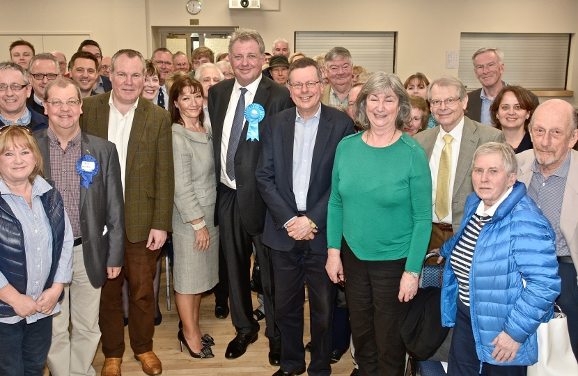Conor with newly selected Conservative Police and Crime Commissioner candidate for Dorset, David Sidwick and local Conservative Party members.