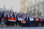 Conor Burns alongside parliamentary colleagues supporting the 'Leave' campaign a